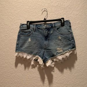 Free People distressed shorts, size 28